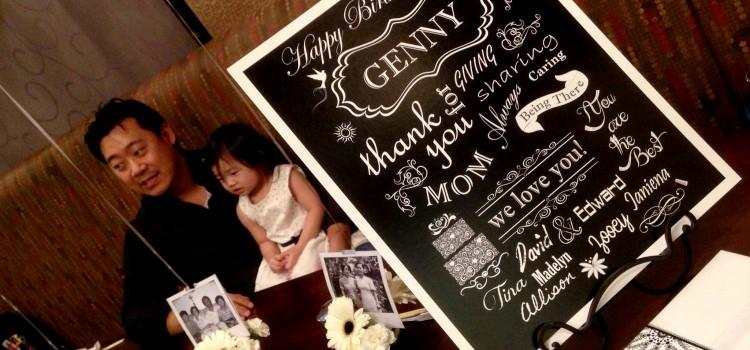 Genny's Black and White Mini Birthday Bash