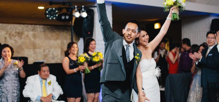 Mary & Robert's Yellow & Navy UCI Wedding