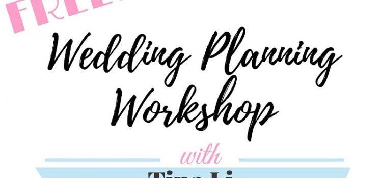Los Angeles Free DIY Wedding Planning Workshop