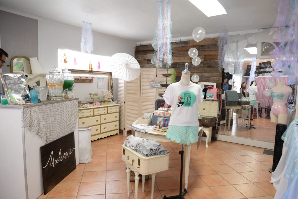 Mermaid merchandize pop-up shop