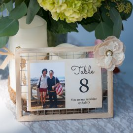 DIY Rustic Wedding Table Number and Menu Display