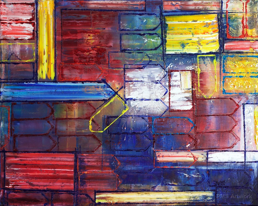 abstract painting by preston smith point me in the right direction