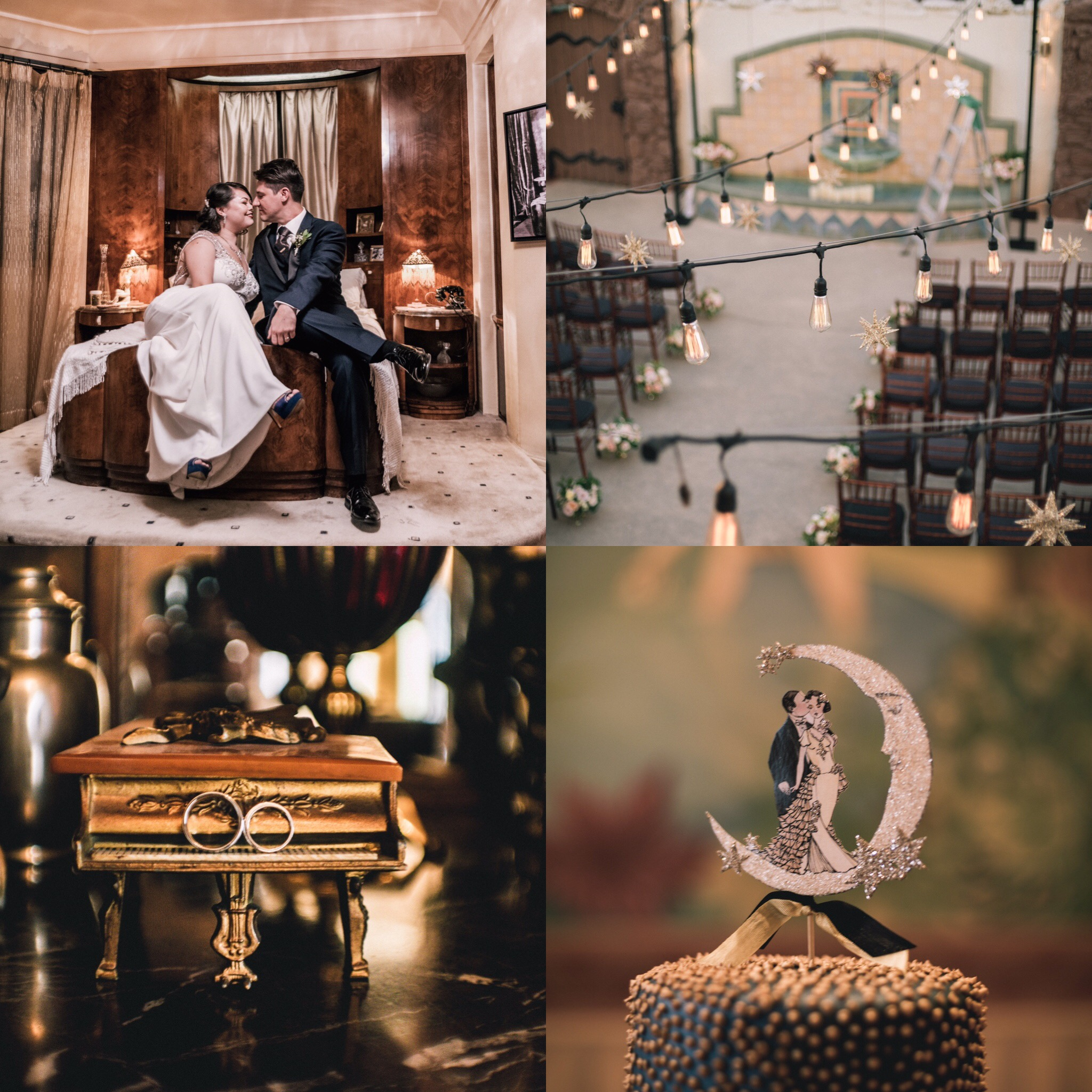 1920's Vintage Wedding at Oviatt Penthouse I love you to the moon and back