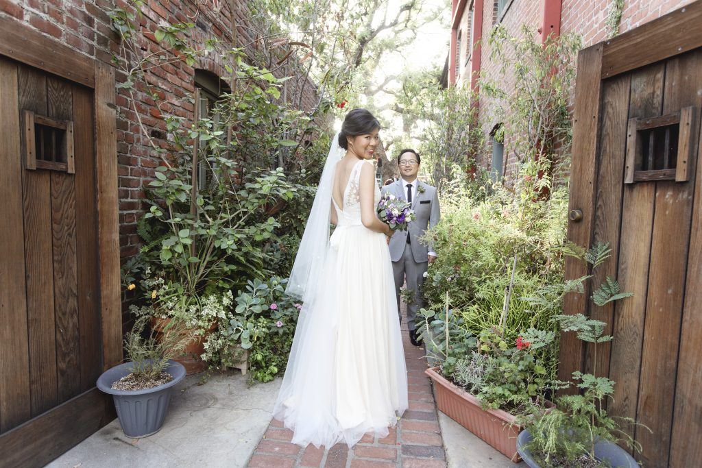 Amy & jacob Rustic Wedding BHLDN Wedding Gown Dress Garden