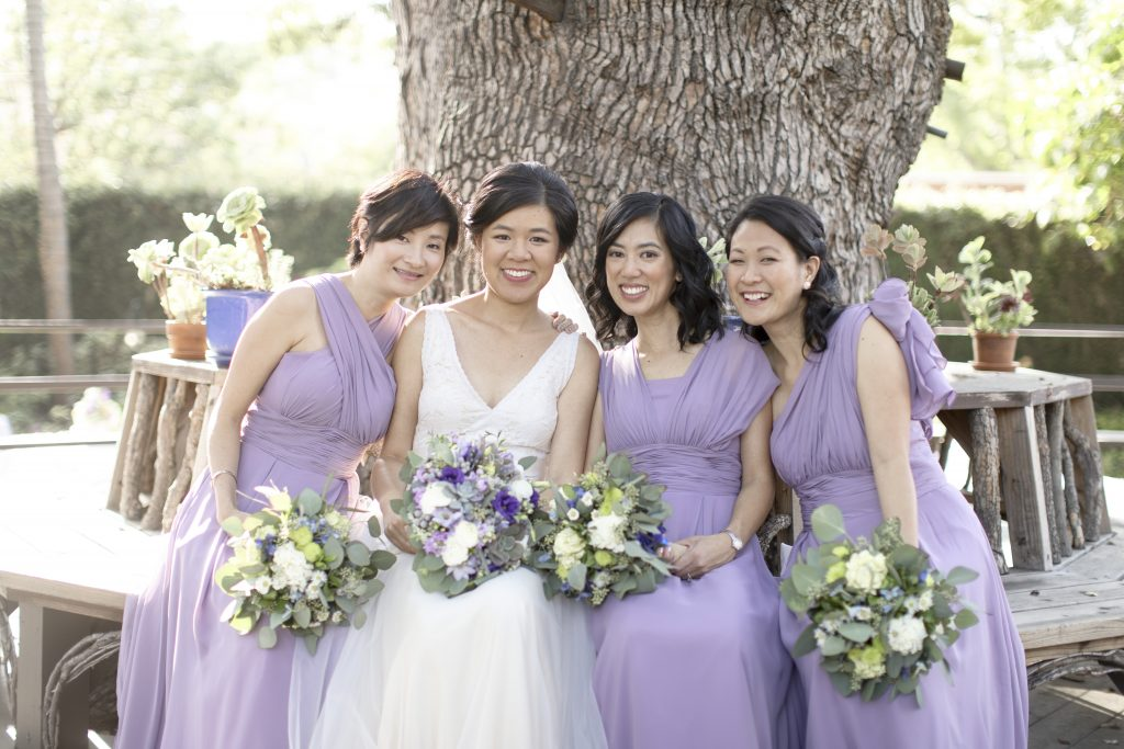 Amy & Jacob Secret Garden Pasadena Wedding Lavender Bridesmaids