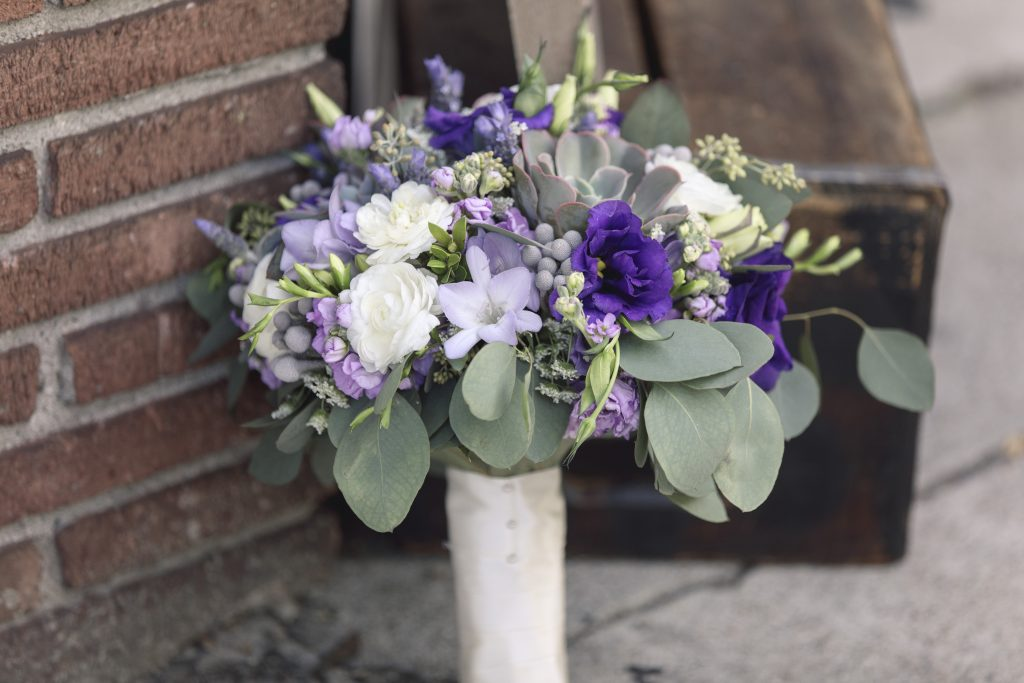 Lavender Purple Rustic Wedding Bridal Bouquet