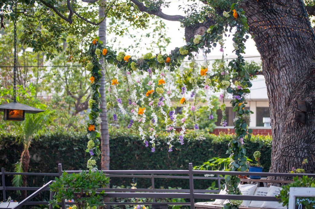 Rustic Garden Wedding Ceremony Decoration Floral Garland Hanging