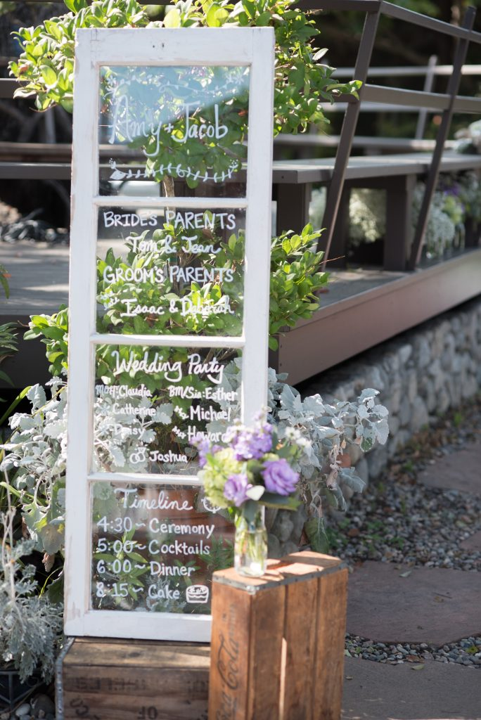 Secret Garden Wedding Rustic Window Pane Ceremony Program