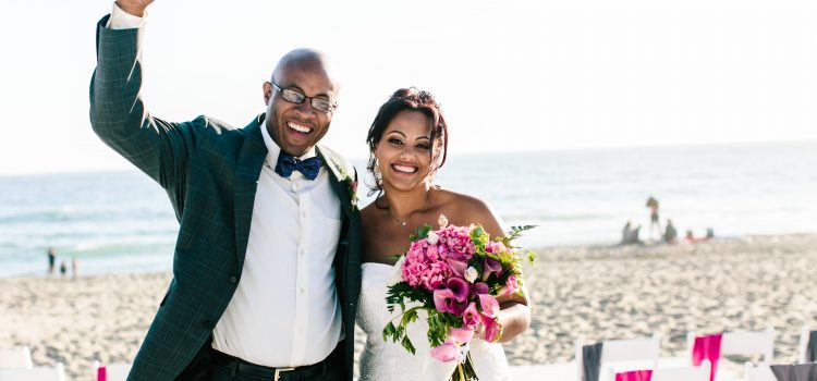 Erica & David's Malibu Beach Sunset Wedding