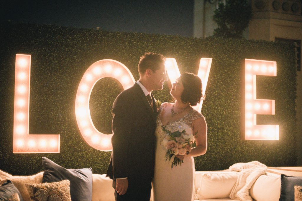 Emi & Rob Oviatt Penthouse Wedding Downtown Los Angeles
