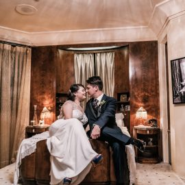 Emi & Rob's Vintage Glam Downtown LA Wedding
