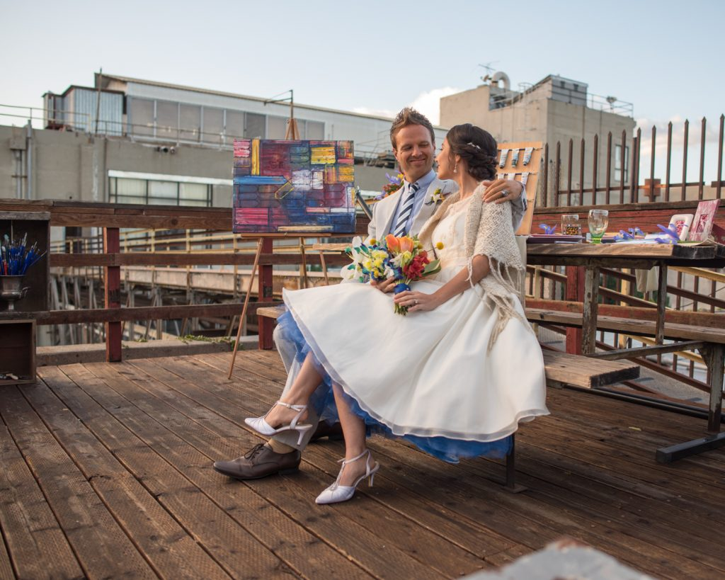 Preston & Magdalena's Los Angeles Art Inspired Rooftop Wedding