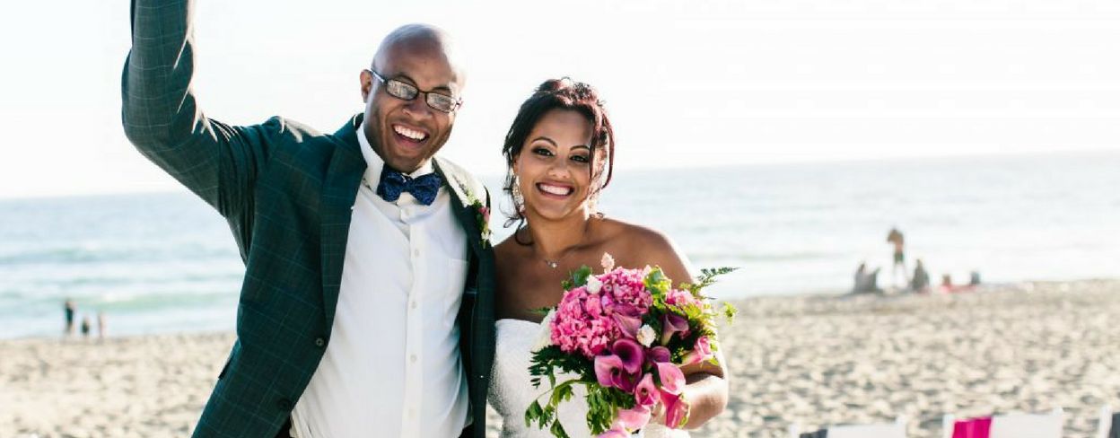 Fun Casual Beach Wedding