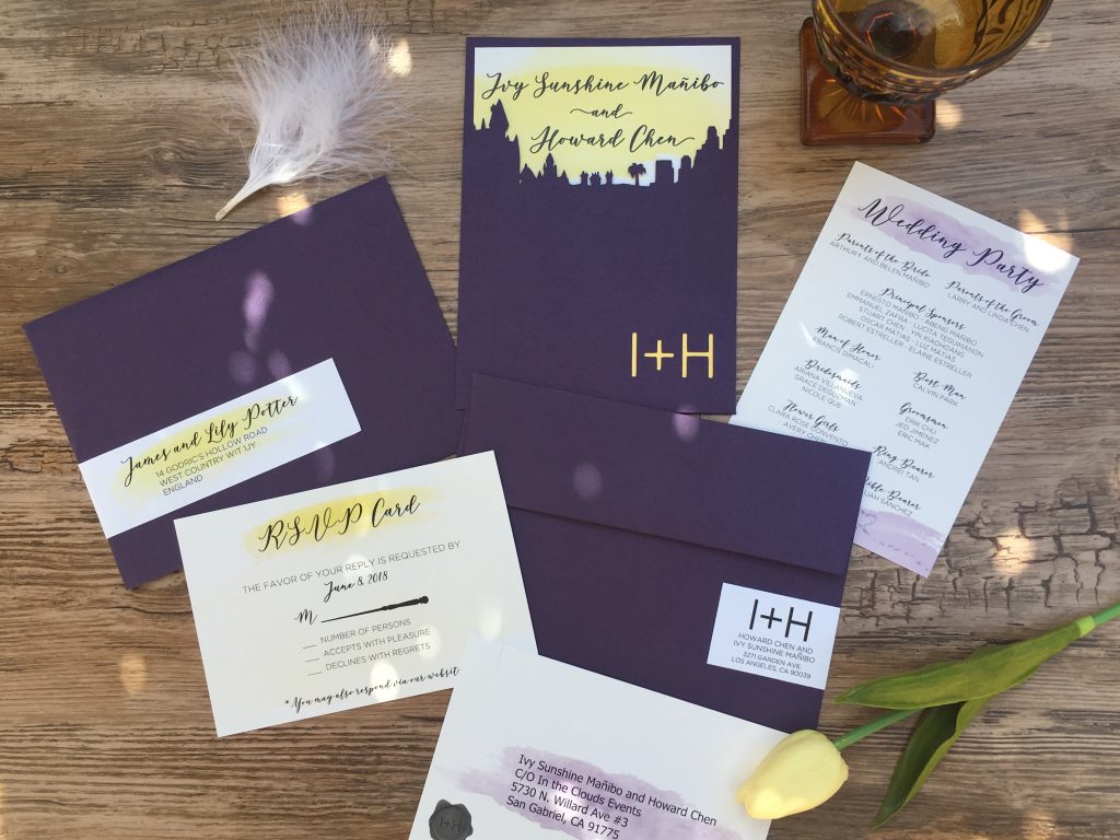 Harry Potter Inspired Wedding Invitaion