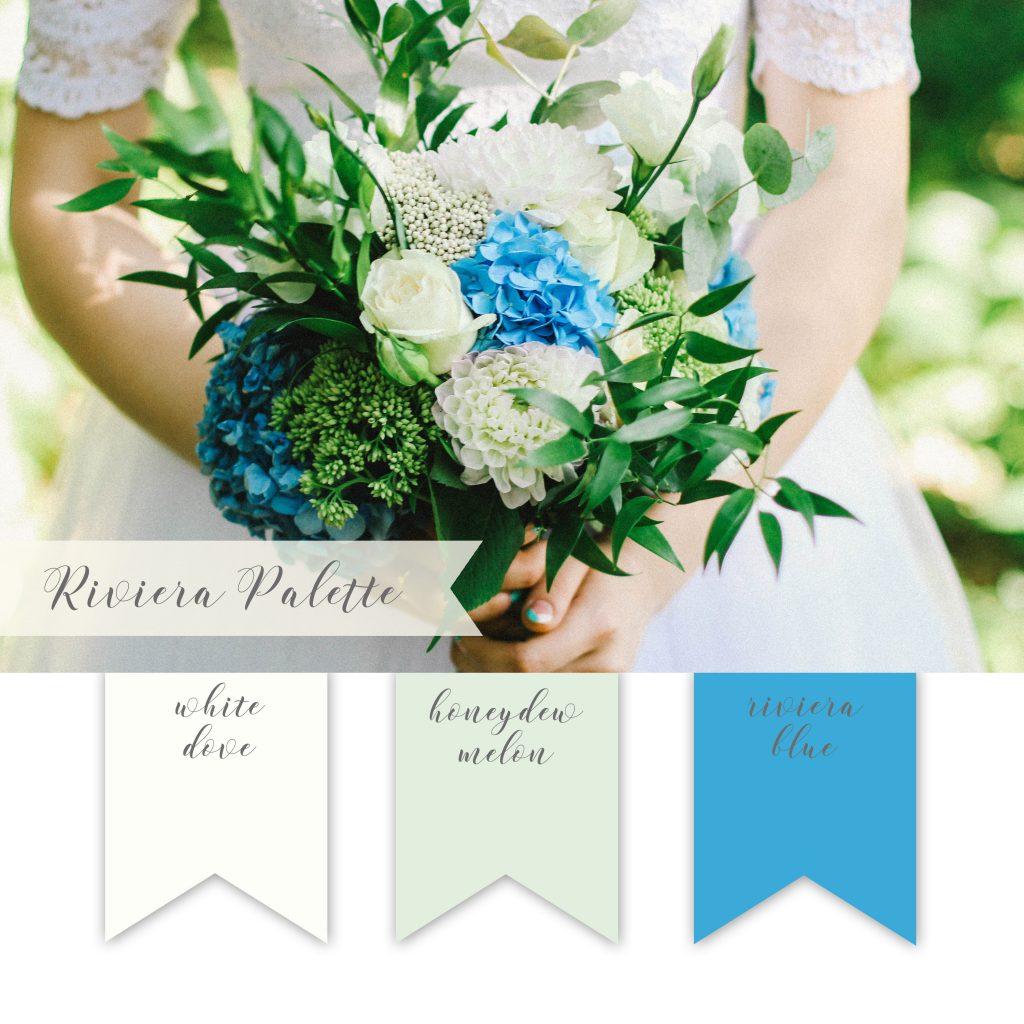 La Design Boutique Wedding Color Palette - White Green Teal