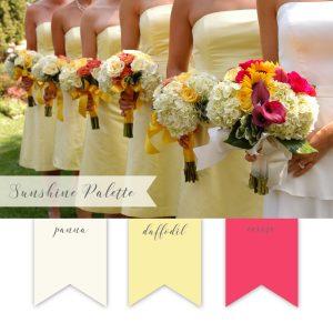La Design Boutique Wedding Color Palette - Cream Yellow Coral
