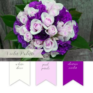 La Design Boutique Wedding Color Palette - VIolet Pink Purple