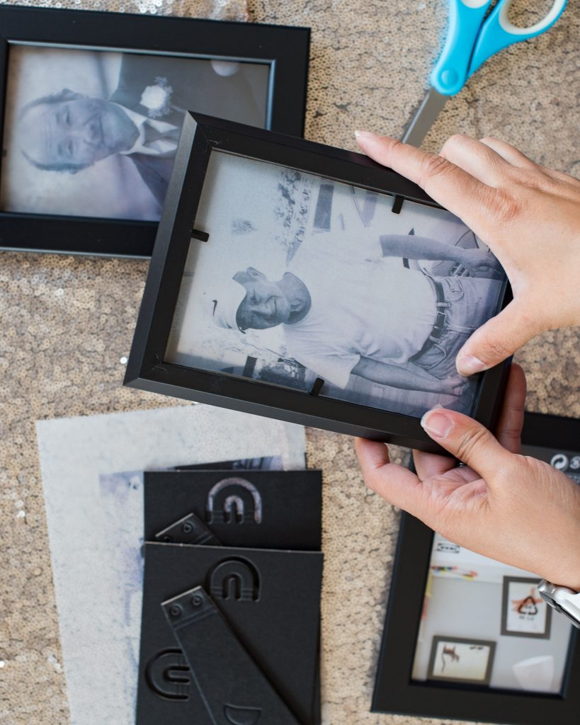 DIY Memorial Photo Frame Luminary Tutorial Vellum Photo