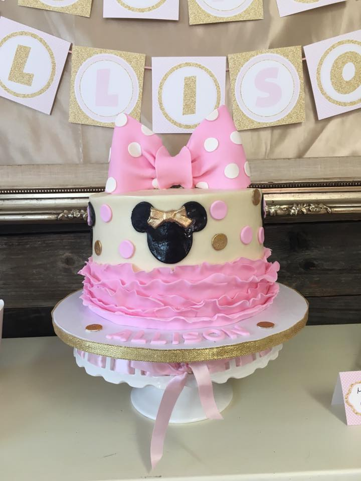 Allison's 4th Birthday Party - Pink and Gold Minnie Mouse ...